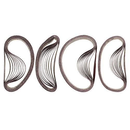 Milageto 40 Unids/Set Cinturón de Lijado 762x25mm Cinturones Abrasivos para Herramientas Eléctricas 36# -120#