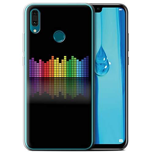 eSwish Carcasa/Funda TPU/Gel para el Huawei Y9 2019 / Serie: Colores Neón - Ecualizador Gráfico EQ