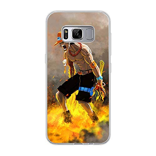 Be-better Case for Samsung Galaxy S8 Plus, One-Piece Anime-Luffy 8 Ultra Clear Coque Thin Soft TPU Rubber Anti-Slip Phone Cover