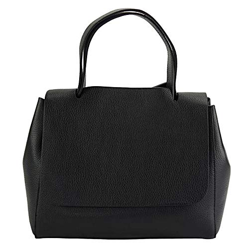 FLORENCE LEATHER MARKET BORSA A MANO GAIA IN VERA PELLE DI VITELLO MADE IN ITALY 9111 (Nero)