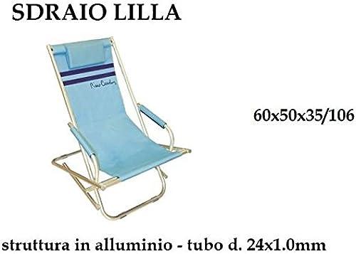 nuevo sádico C&C Spiaggina Relax con cojín playa playa playa playa jardín 60x 50x 35aluminio prc607  despacho de tienda