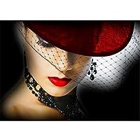 5Dダイヤモンドパターンラインストーン針仕事Diyダイヤモンド絵画クロスステッチ「キャラクタービューティー」ダイヤモンド刺繍50x63cm