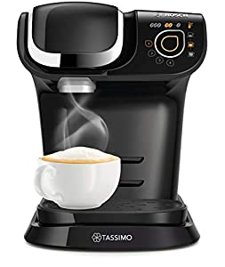Bosch TAS6502GB My Way TASSIMO Coffee Machine, Plastic, 1300 milliliters, Black