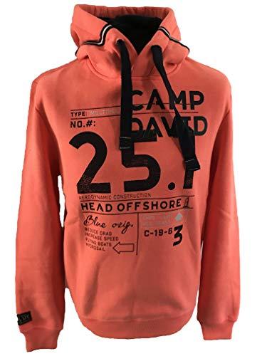 Camp David Hoodie mit Print und plakativem Logo neon Flame L