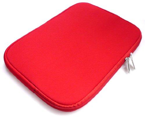 Emartbuy® Rot Wasserdicht Neopren weicher Reißverschluss Kasten Abdeckung Sleeve Geeignet Für Asus EeeBook E402SA 14 Zoll NoteBook ( 13-14 Zoll Laptop / Notebook / Ultrabook )