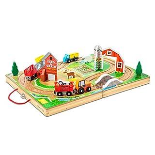 Melissa & Doug 17-Piece Wooden Take-Along Tabletop Farm, 4 Farm Vehicles, Play Pieces, Barn, Grain House (B07KBQJV2G) | Amazon price tracker / tracking, Amazon price history charts, Amazon price watches, Amazon price drop alerts