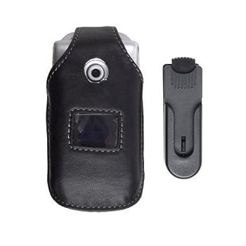 Sony Ericsson 5 Pack -Swivel Clip Leather Case W300 Z530 - Black