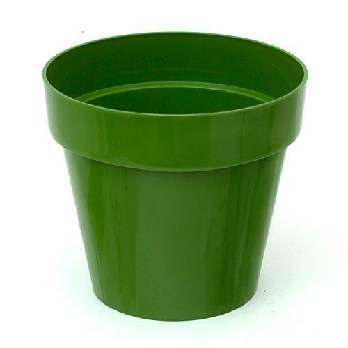 Pot de fleur Cube Shine 0.6 Lt, en vert d'olive