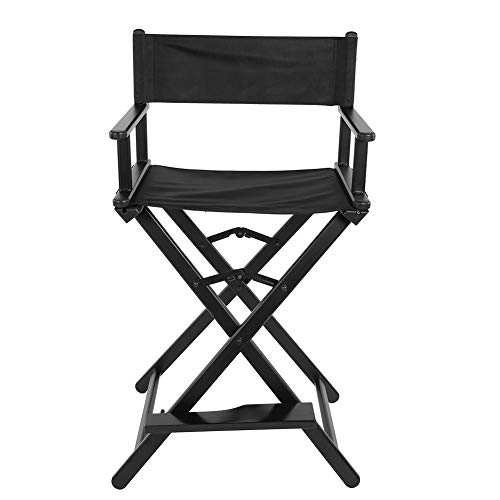 Director Chair, Folding Craftsmanship Director Height Chair with Pedal and Comfortable Backrest for Makeup Artist Painter, 72 cm / 28.3 Inch