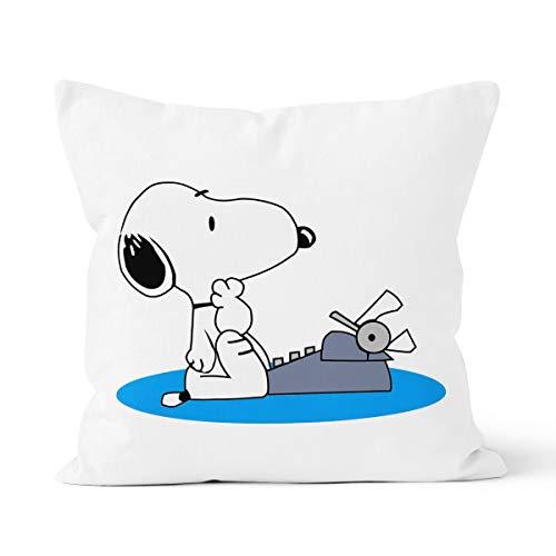 Funda de cojín para la piel del cómic de Snoopy, apta para funda de almohada del coche del dormitorio, tamaño 40 x 40 cm