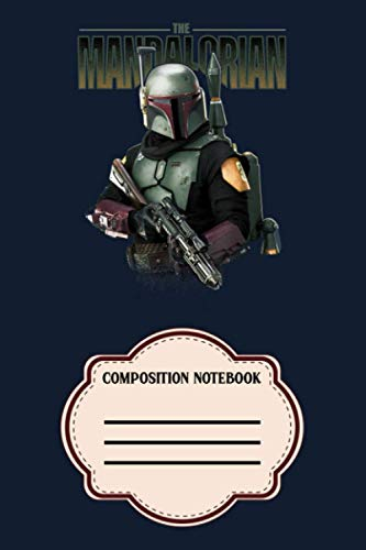 Star Wars The Mandalorian Boba Fett Logo Portrait R15 VB Notebook: 120 Wide Lined Pages - 6' x 9' - College Ruled Journal Book, Planner, Diary for Women, Men, Teens, and Children