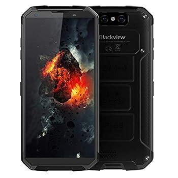 Unlocked Cell Phone Blackview BV9500 Plus Rugged Smartphone 10000mAh Battery Wireless Charging 5.7Inch Screen Dual Sim 4GB Ram+64GB ROM Dual Camera  Black