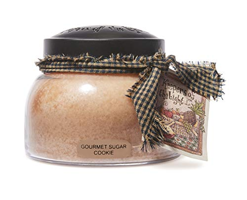 A Cheerful Giver - Gourmet Sugar Cookie Mama Scented Glass Jar Candle (22oz) with Lid & True to Life Fragrance Made in USA