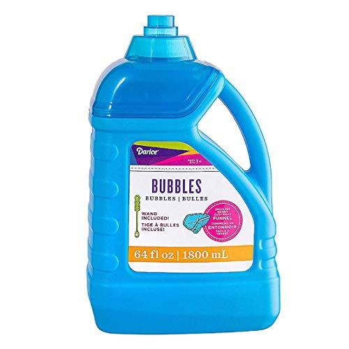 Darice 64-Ounce Bubble Solution-Includes Wand and Easy Pour Funnel Top-Works with Bubble...