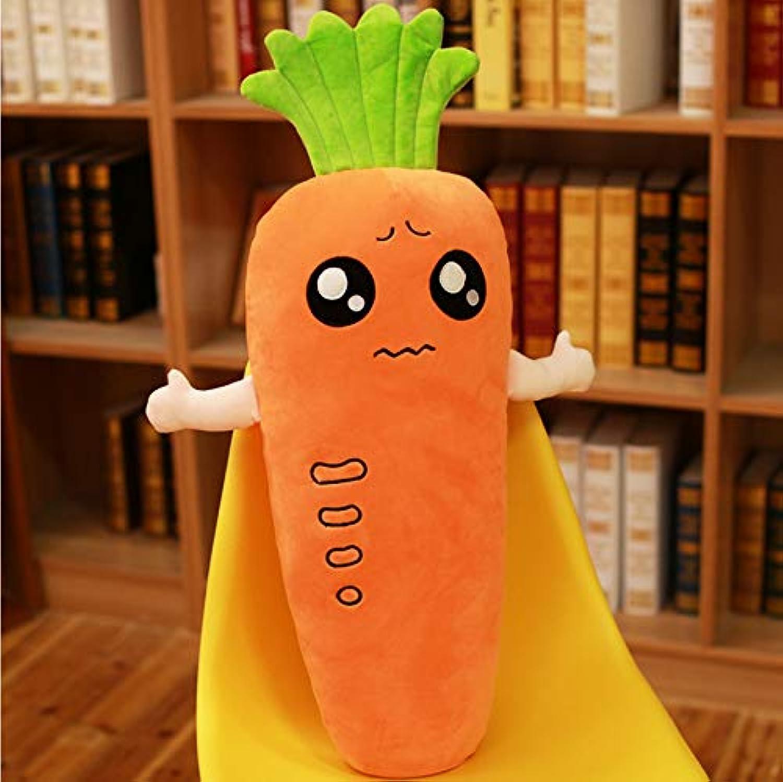 forma única Ycmjh Simulación de Peluche Peluche Peluche de Juguete Zanahoria Abajo Algodón Almohada Súper Suave Creativa Regalo de niña 70 cm  Vuelta de 10 dias