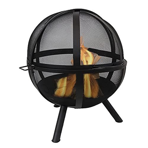 Sunnydaze Flaming Ball Fire Pit - Outdoor 30 Inch...