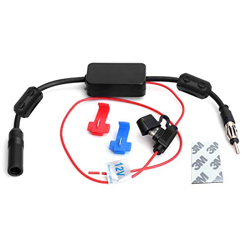 JAPower Signal Amplifier Universal Auto Car FM Radio Antenna Signal