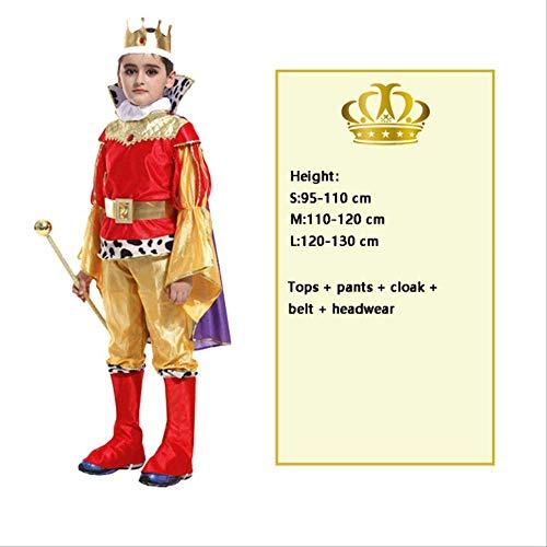 CHNWSJ Kostüm for Halloween Cosplay Kinder Prince Kostüm for Kinder Der König Kostüme Weihnachten Jungen Fantasia Europäische Lizenz Kleidung M Modell EIN