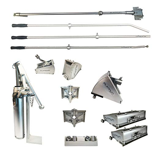 Platinum Drywall Finishing Set w/ 2 Angle Heads and Nail Spotters