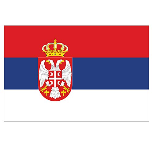 Supstick Vlag van Servische Vlag Stickers 15 x 10 cm