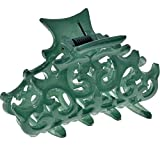 Camila Paris CP2907 French Hair Clips for Women, Girls Hair Claw Clips Jaw Fashion Durable and Styling Hair Accessories for Women, Strong Hold No Slip Grip, Made in France. 2 inch Green