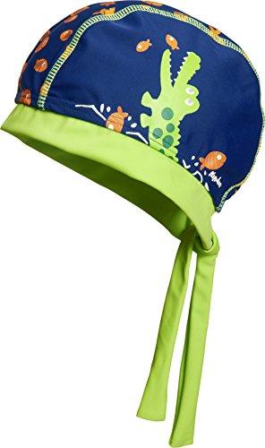 Playshoes UV-Schutz Kopftuch Krokodil Capo dAbbigliamento, Blu (Marine), 55cm Jungen