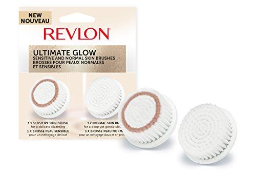 REVLON Pinceau à Fond de Teint avec Eponge Beauté de Rechange pour Brosse Visage Sonique Ultimate Glow RVSP3538CB