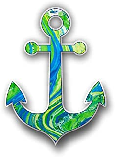 Vinyl Junkie Graphics Boat Anchor Sticker Custom Graphic Decal for Notebook car Truck Laptop Many Color Options (Green)