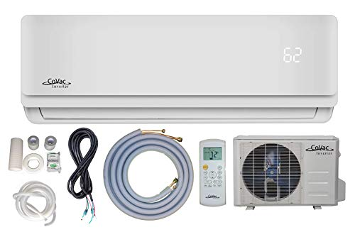 12,000 BTU CoVac Ductless Mini-Split Air Conditioner – Inverter SEER 19 – Cooling & Heating – Dehumidifier – 120v/60hz - PreCharged Condenser - Ultra Quiet - AHRI - 16 Feet Line Set + Accessories