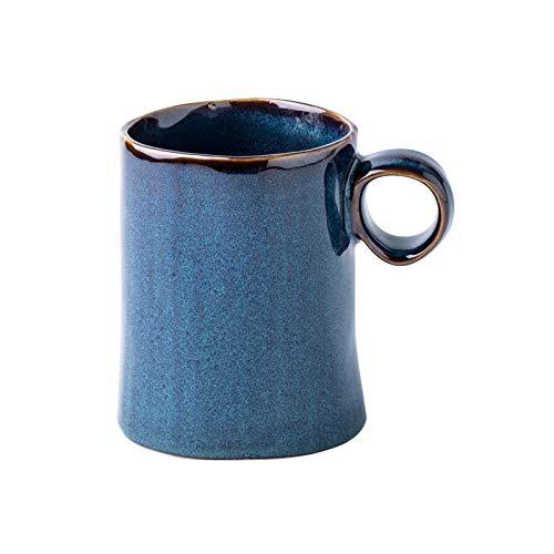 HRDZ Taza de café Azul Retro Azul Hielo Taza Creativa Taza de cerámica casera Taza Taza de Agua