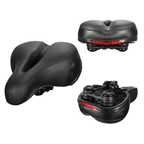 Fengh Réflecteur résistant aux chocs de vélo et selle de vélo Coussin de siège – Noir