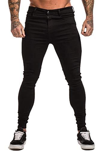 Gingtto Ripped Repaired-Skinny Stretch Men's Jeans