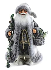 Bring Soft & Fluffy Woodland Santa's coat into your home so that you can caress his coats, trim, and boots every day. Santa's coat is furry and fluffy, the trim on his long coat is velvety, and his boots are unbelievably soft. He's carrying a wooden ...