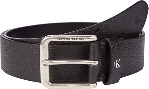 Calvin Klein Jeans Rounded Classic Belt 38MM Cintura, Nero, 95 cm Uomo