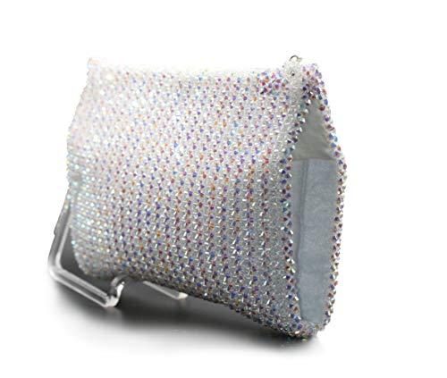 My Home Crystal - Clutch Klatsch Damenhandtasche ohne Henkel aus Swarovski Elements Crystallized™ 25x15x3cm