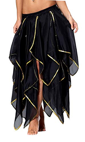 Belly Dancing Skirt Gypsy Pirate Costume Steampunk Clothing for Women Gothic Renaissance Skirt Masquerade Clothing