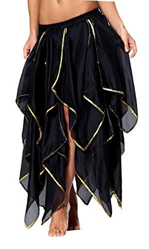 Seawhisper Belly Dancing Dance Dancer Skirt Pirate Costume Steampunk Women Gothic Renaissance Masquerade