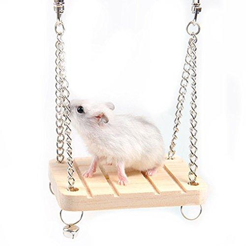TREESTAR Balançoire Hamster Jouet Hamster Accessoires pour Cage à Hamster Hamster Grimpant