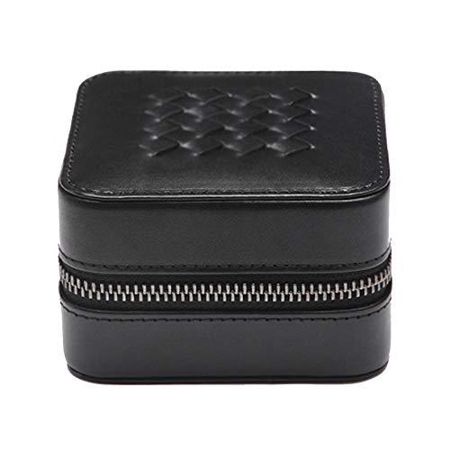 GYMEIJYG Watch Display Storage Pu Zipper Watch Box Jewelry Display Storage Box For Watch Storage Watch Box For Women (Color : Black, Size : 10x10x6.2cm)