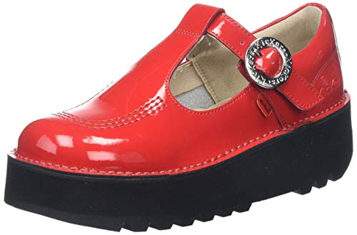 Kickers Kick Trixie, Merceditas para Mujer, Rojo (Red Red), 42 EU