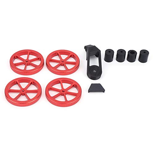 Ruspela Hand Twist Leveling Nut Kit Durable And Reliable Leveling Nut for Ender 5 5 Plus 5 Pro Industrial Accessories Red