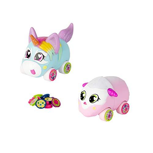 Ritzy Rollerz Cute Collectable Animal Girls Toy Cars con encantos Sorpresa, Sofia Serv y Tori TaDa Besties, Juguete para niñas de 4 5 6 7 8 años