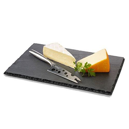 Boska Service à Fromage Cheesy L Ardoise, Service 2 Pièces, Couteau, Plateau, 359010
