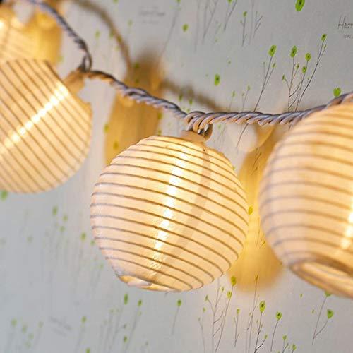 Top Fashion18 LED Solar Lichterkette Lampions Wasserdicht 20er LED Lampions Laterne Lichterkette Garten Innen und Außenbereich 5 M für Party Weihnachten. Warmweiß