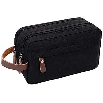 Mens Toiletry Bag Dopp Kit Travel Bathroom Bag Waterproof Shaving Shower Cosmetic Organizer  Black