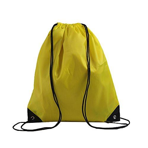 LIHI Bag 20 Pack Ripstop Drawstring Backpack,Party Favors Goody Bags Bulk,Yellow