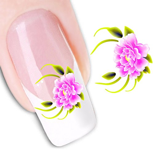 Mode Autocollant Portable Fleur Motif Nail Stickers Nail Art Outil,B