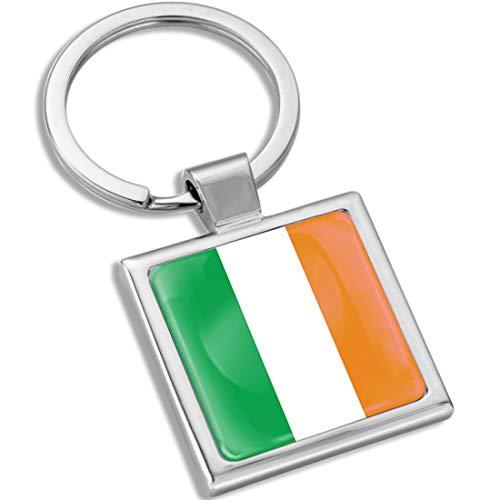 Biomar Labs® Schlüsselanhänger Metall Keyring mit Geschenkbox Autoschlüssel Geschenk Metall-Schlüsselanhänger Schlüsselbund Edelstahl Irland Ireland Irish Irisch Irländisch Flagge Fahne KK 284