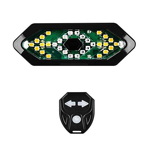 Fahrradrücklicht Blinker, wasserdichte LED-hintere Fahrrad-Licht-Bremsen-Warnleuchte mit drahtloser Fernbedienung, Smart-USB aufladbare Fahrrad Indicators