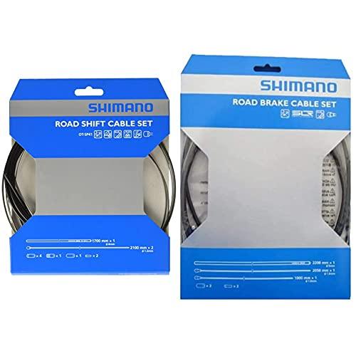 Shimano (SHNO5, Kit Cavi Bici da Corsa, Nero Taglia Unica & Ultegra Race, Set Guaina per il Freno, Nero